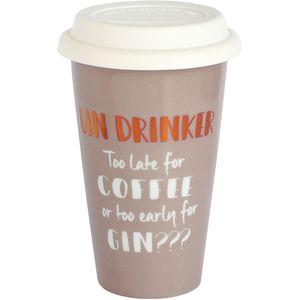 Ceramic Travel Mug - Gin Drinker