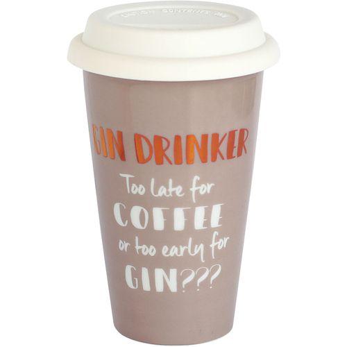 Ultimate Girl Gift Ceramic Travel Mug - Gin Drinker