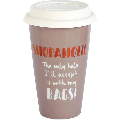 Ultimate Girl Gift Ceramic Travel Mug - Shopaholic