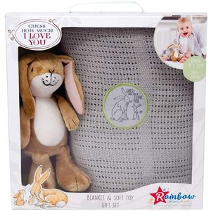 Guess How Much I Love You Little Nutbrown Hare Soft Toy & Blanket Gift Set