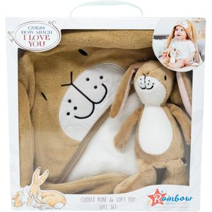 Guess How Much I Love You Little Nutbrown Hare Soft Toy & Cuddle Robe Gift Set