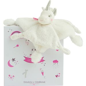 Doudou et Compagnie Unicorn Baby Comforter Soft Toy - Silver