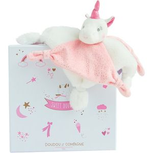 Doudou et Compagnie Unicorn Baby Comforter Soft Toy - Pink