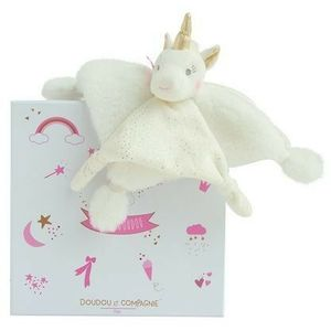 Doudou et Compagnie Unicorn Baby Comforter Soft Toy - Gold