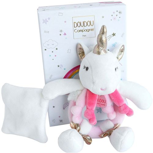 Doudou et Compagnie Unicorn Rattle with Comforter