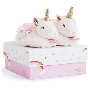 Doudou et Compagnie Unicorn Slippers 0-6 Months