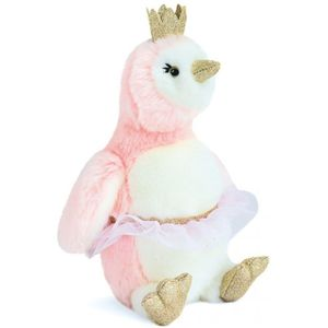 Doudou et Compagnie Penguin Pigloo Soft Toy 30cm - Pink