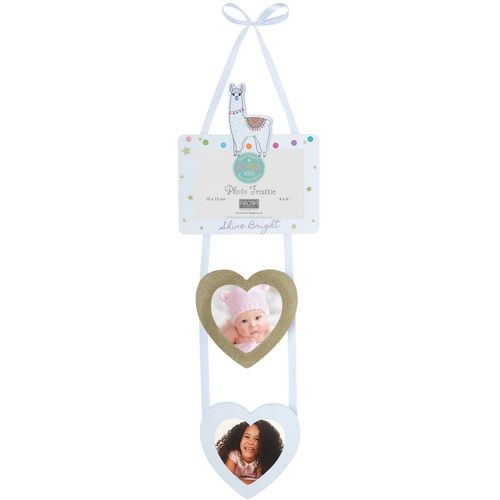 "Arora Llama Hanging Photo Frame 4"" x 6"" with 2 Heart Shaped Picture Holders"