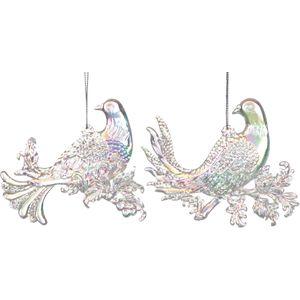 2 asst glitter doves iridescent