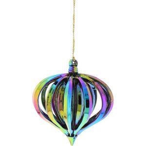 Dark Iridescent Onion Shape Tree Decoration Set of 4