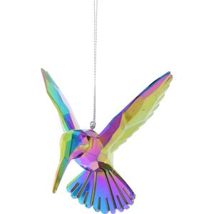 Dark Iridescent Hummingbird Bird Tree Decoration x 4