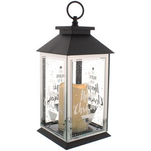 Christmas Lantern with Battery Operated Candle - Believe In The Magic