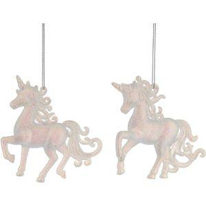 Christmas Tree Hanging Decorations - Glitter Unicorn Pack of 2