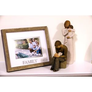 Willow Tree Figurines & Family Photo Frame Set - Mother & Father with Two Babies