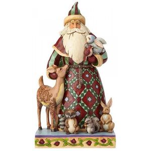Heartwood Creek Santa Figurine - Santa's Creature Comforts