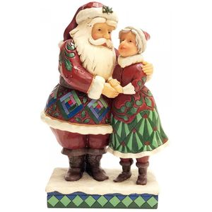 Heartwood Creek Cutest Christmas Couple (Santa & Mrs Claus) Figurine