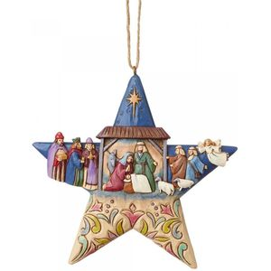 Heartwood Creek Nativity Star Hanging Ornament