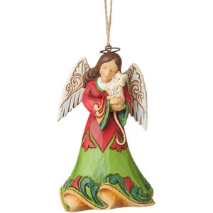 Heartwood Creek Hanging Ornament - Angel with Cat