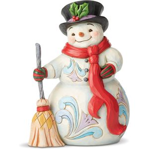 Heartwood Creek Snowman Figurine - Swept up in the Season