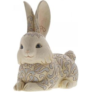 Heartwood Creek White Woodland Garden Statue - Bunny