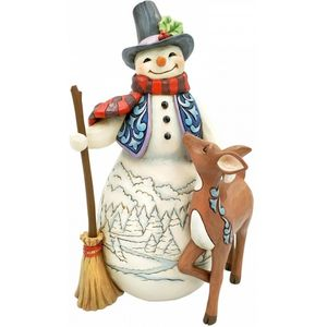 Heartwood Creek Snowman Figurine - Snowman & Deer