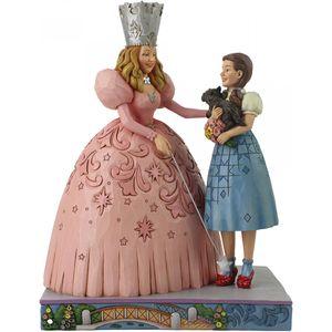 Jim Shore Wizard of Oz Figurine - The Gift of Ruby Slippers (Glinda & Dorothy)