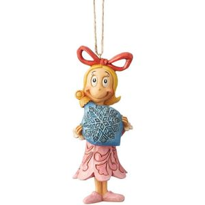 The Grinch by Jim Shore Hanging Ornament - Cindy Lou with Bauble