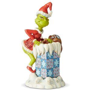 Jim Shore The Grinch Figurine - Grinch Climbing into Chimney