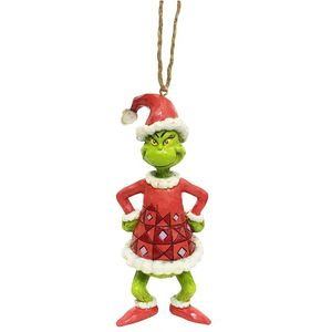 Jim Shore The Grinch Hanging Ornament - Grinch Dressed as Santa