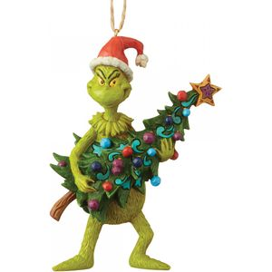 Jim Shore The Grinch Hanging Ornament - Grinch Holding Christmas Tree