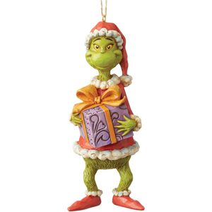 The Grinch by Jim Shore Hanging Ornament - Grinch Holding Present
