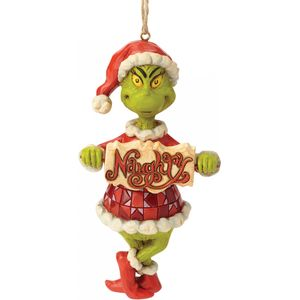 Jim Shore The Grinch Hanging Ornament - Naughty or Nice