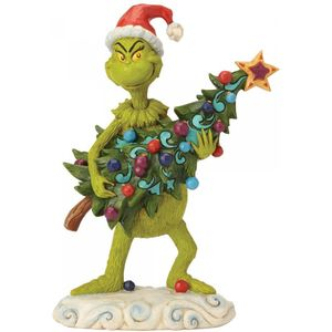 The Grinch by Jim Shore Figurine - Grinch Stealing Tree
