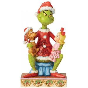 The Grinch by Jim Shore Figurine - Grinch with Cindy & Max