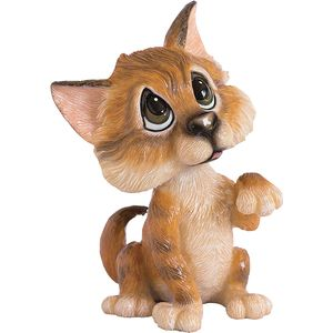 Little Paws Amber Tabby Cat Figurine