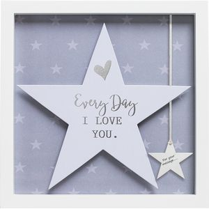Said with Sentiment Star in Frame - Every Day I Love You