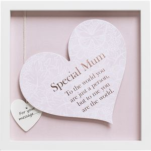 Said with Sentiment Heart in Frame - Special Mum