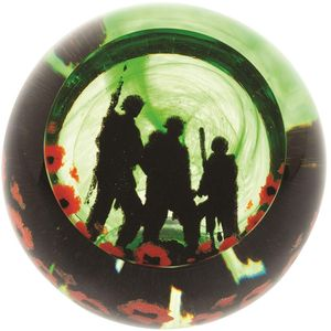 Caithness Glass Paperweight: Remembrance Proud Soldiers