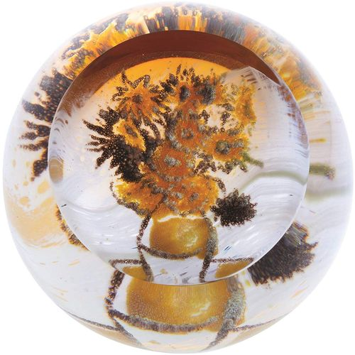 Caithness Glass Paperweight: Artisitc Impressions Sunflowers