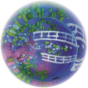 Caithness Glass Paperweight: Lily Pond