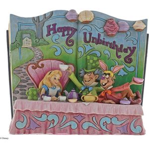 Disney Traditions Storybook Figurine - Happy Unbirthday (Alice in Wonderland)