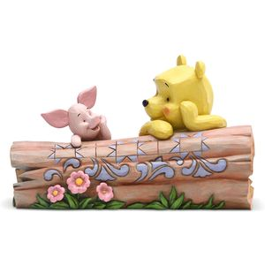 Disney Traditions Truncated Conversation (Pooh & Piglet on Log) Figurine