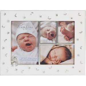 Juliana Bambino Silver Plated Embellished Collage Photo Frame