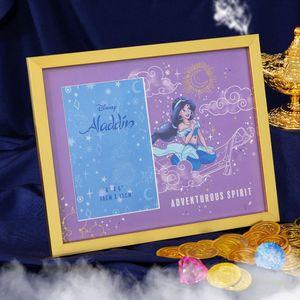 "Disney Aladdin Gold Metal Photo Frame 4x6"" - Adventurous Spirit"