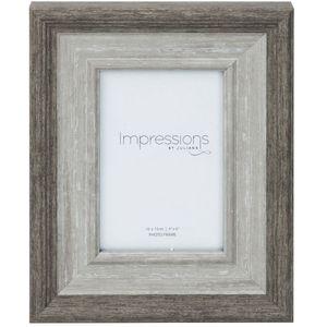 """Impressions Grey Wash Wood Effect Photo Frame 4"""" x 6"""""""