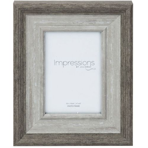 "Juliana Impressions Grey Wash Wood Effect Photo Frame 4"" x 6"""