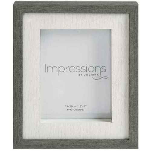 "Juliana Impressions Grey Wash Wood Effect Photo Frame 5"" x 7"""