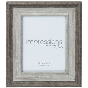 "Impressions Grey Wash Wood Effect Photo Frame 6"" x 8"""