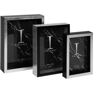 iFrame Set Of 3 Photo Frames (Black & White)