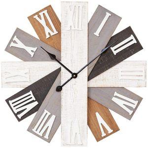 Hometime Wall Clock Wooden Multi Finish 60cm